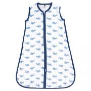 Hudson Baby Hudson Saco de Dormir Unisex para bebé, Azul Ballena, 6-12 Meses