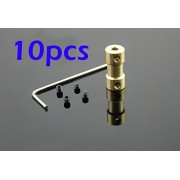 Generic H : Free Shipping 10pcs Copper Coupler Coupling Boat Motor shaft converter adapter for RC Boat 3.17mm 4mm 5mm 2mm 2.3mm 6mm