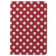 Bolsa Rotativa Polka Dots para iPad Mini 4 - Vermelho / Branco