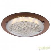 Plafoniera moderna, diam.42cm, cristal K5, LED Tabasco 48264 GL