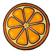Merkloos Badlaken sinaasappel 150 cm