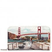 Y Not? Portafoglio Donna Y NOT L-361 Golden Gate - Chiusura Zip Around