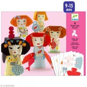 Djeco / Folded Paper Toy Kit, Kokeshis