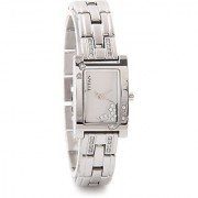 Titan Quartz White Rectangle Women Watch-9716SM01