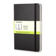 Moleskine Černý zápisník v pevné vazbě Moleskine, 192 stran