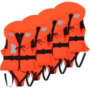 vidaXL Auxiliares de flutuação para crianças 4 pcs 100 N 20-30 kg