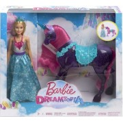 Barbie Dreamtopia Princess Set Papusa si Unicorn FPL89