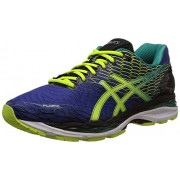 Asics Men's Gel-Nimbus 18 Asics Blue, Flash Yellow and Black Running Shoes - 9 UK/India (44 EU) (10 US)