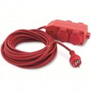 GAO kültéri földelt lengő hosszabbító 4 dugalj 3x1,5mm? 10m kábel 250V 16A IP44 3680W 77006