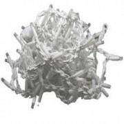 Perdea luminoasa decorativa 200 LED lungime 5 m lumina statica lumina alb cald Home