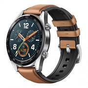 "Huawei Watch GT Reloj Inteligente Acero Inoxidable AMOLED 3.53 cm (1.39"") GPS (satélite) Relojes Inteligentes (3.53 cm (1.39""), AMOLED, Pantalla táctil, GPS (satélite), 46 g, Acero Inoxidable)"