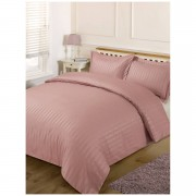 Brentfords Satin Stripe Duvet Set - Vintage Pink - King