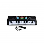 Teclado Electrónico Juguete Piano Musical Con Micrófono-Negro