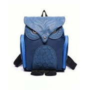 Owl Printed Spliced Frosted Backpack