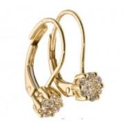 Luxusní náušnice s diamanty Manon, žluté zlato