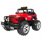 SLectionAccess Full Function Remote Control Power Cross-Country Jeep (1:16 Scale), Red