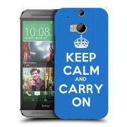 Husa HTC One M8 Silicon Gel Tpu Model Keep Calm Carry On