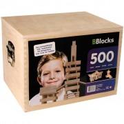 BBlocks Building Planks 500 pcs Brown Wood BBLO890201