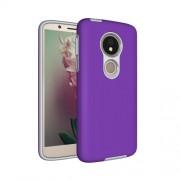 Anti-slip Armor Texture TPU + PC Case for Motorola Moto G6 Play (US Version) (Purple)