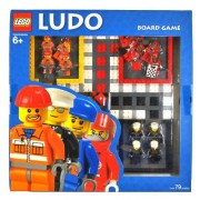 Board Game Lego Year 2006 Board Game Set #4499572 - LUDO with Gameboard Dice 4 Policeman Minifigures 4 Construction Worker Minifigures 4 Repairman/Mechanics Minifigures and 4 Race Car Driver Minifigures