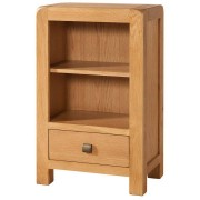Devonshire Avon Avon Waxed Oak Low Bookcase With 1 Drawer Fully Assembled