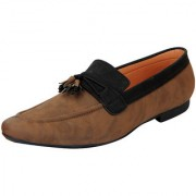 FAUSTO Brown Black Men's Loafers and Mocassins