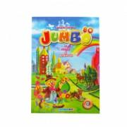 Carte de colorat cu animale si abtibilduri A4 80 pagini Eurobookids vol. 3