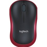 Logitech M185 - Muis - optisch - draadloos - 2.4 GHz - USB draadloze ontvanger - rood