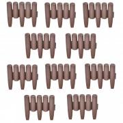 Комплект от 10 броя елементи за градински бордюр [casa.pro]® 24 x 27,5 cm, Кафяв