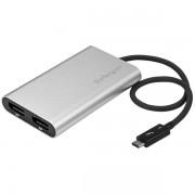 StarTech.com Thunderbolt 3 to Dual DisplayPort Adapter - 4K 60Hz - Mac and Windows Compatible