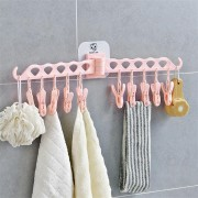 Foldable Laundry Clothes Peg Drying Rack Multifunctional Clothes Hanger Organizer Balcony Towel Sock Rack Hanger