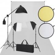 vidaXL Студиен комплект, бял и черен
