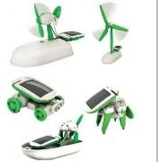 Diy 6 In 1 Solar Educational Kit Toy Boat Fan Car Robot Power Moving Dog