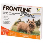 Frontline Plus Small Dogs 0-22lbs (Orange) 03 Doses