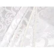 Fata de masa alba, de lux, damasc 250x120 cu 2 fete folosibile