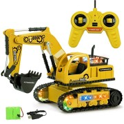 Sea Sun Toys SSS111-170 1/24 Wireless 4CH Rc Excavator Digger Truck with LED Light Toys