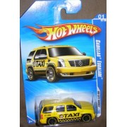 2010 HOT WHEELS HW CITY WORKS 109/240 YELLOW TAXI CADILLAC ESCALADE 01 OF 10