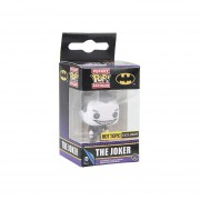 Funko Pop Joker Black And White Exclusivo Guason Llavero Keychain-Multicolor