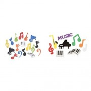 181 Foamies MUSIC Shapes STICKERS Musical NOTES Guitar Piano Foam Adhesive SHAPES - KIDS Craft STICKERS - ACTIVITY by Just4fun