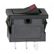 Kapcsoló billenő LED-es 2 állású 12V 15A 09027PI piros