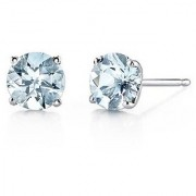 Jaipur Gemstone Natural Topaz Stone With Certified Topaz Stud silver Plated Earring.
