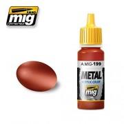 Ammo of Mig Jimenez Metal Color Copper Metallic Paint 17ml Jar #0199