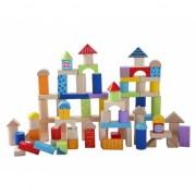 Blokkenton met 100 houten blokken