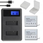 Actie Camera Batterij 1350 MAH met LCD Dual Charger voor Eken H5S H6S V8S H9/H9R sjcam sj5000 Thieye t5e ELECAM Geekam Goldfox