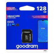 Goodram Microcard 128 GB micro SD XC UHS-I class 10 карта памет. SD преходник (M1AA-01280R12)