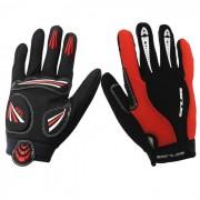 GUB - llenos del dedo guantes de ciclismo - rojo + negro ( l / par )