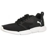 PUMA Interflex Zapatillas de deporte con cordones modernas para hombre, Negro/Blanco, 11.5 US