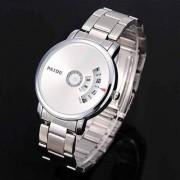 PAIDU Watch White Dile Stainless Steel Turntable Men's Watch Men Watch Fashion Luxury Watches Men