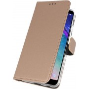 Wicked Narwal Wallet Cases Hoesje voor Samsung Galaxy A6 Plus (2018) Goud