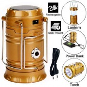 3in1 Waterproof Chargable Long Beam LED Torch Flashlight Emergency Light Solar Camping Lantern Searchlight Power Bank 9W